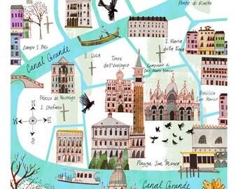 11 x 14 Venice Map