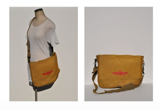 vintage canvas messenger bag shoulder bag laptop bag carry on bag briefcase