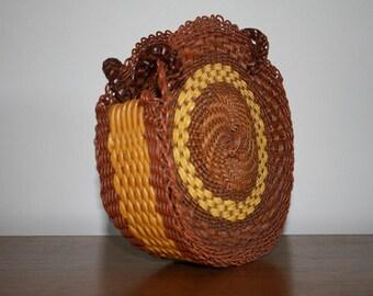 Vintage Sunflower Wooven Purse
