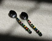 Whimsical hors d'oeuvres spoons and forks