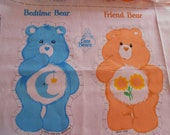Vintage Care Bears DIY Soft Toy Pillow Bedtime Bear and Friend Bear Stuffed Animal Toy c1980s