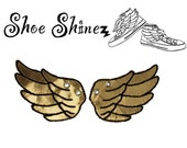 Shoe Wings - Champagne Gold  - for YouR SupeR HerO