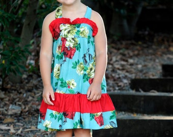 INSTANT DOWNLOAD- Scarlett Dress (Size 12/18 months to Size 8) PDF Sewing Pattern and Tutorial
