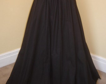 Full Length Three Panel Cotton Skirt - Your Color and Size