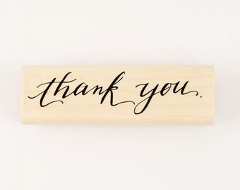 thank you calligraphy stamp