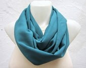 Teal Green infinity Scarf,Loop Scarf,Circle Scarf,Fabric scarf,Women Scarf