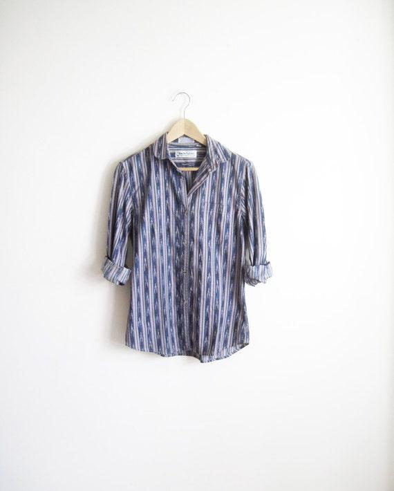Vintage Diane Von Furstenberg Ikat Print Shirt s-m