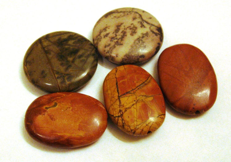 multi color picasso jasper gemstone by catsbeadkitsandmore