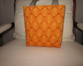 Orange background with gold color shell design