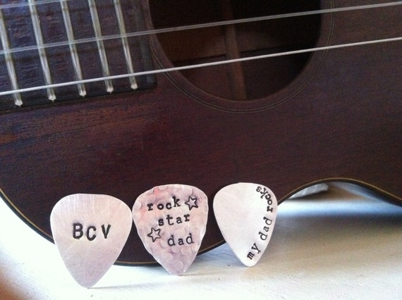 Custom listing..SALE-Personalized Guitar Pick...Hand Stamped