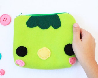 Kappa Zipper Pouch - Pencil Pouch, Pencil Case, School Supplies, Make Up Bag, 3DS Case, Phone Case, Coin Purse