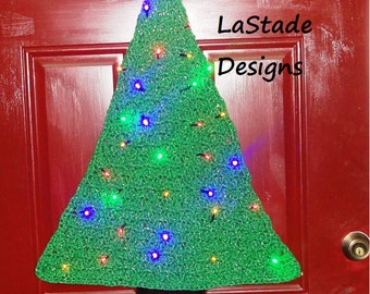 Christmas Tree Lighted Door Decoration with LED Lights