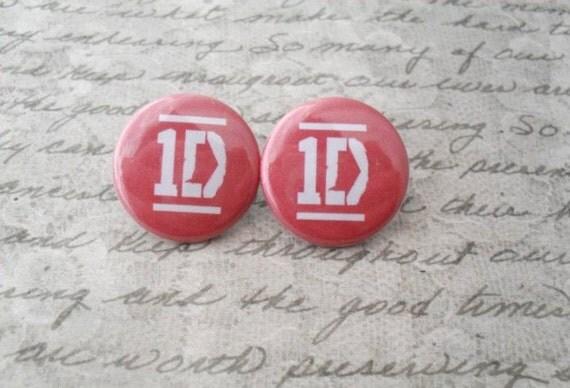 One Direction earrings // 1D, Directioner, Liam, Niall, Harry, Zayn, Louis