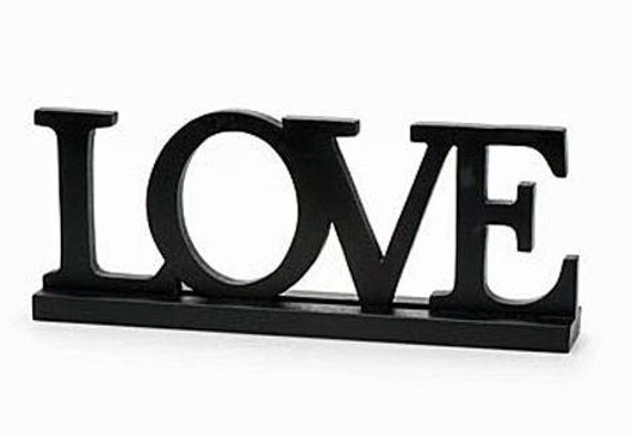 Black Wooden Love Sign Love Letters Vintage Weddings Wood Candy Buffet Guest Book