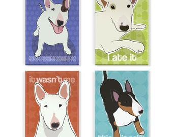 Bull Terrier Magnet Set - Bull Terrier Magnets