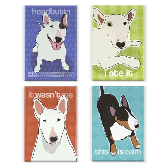 Bull Terrier Magnet Set - Bull Terrier Magnets