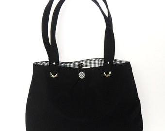 Tote Black Micro Fiber Market Tote Bag