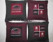 SIU Southern Illinois University Salukis Cornhole Bean Bag Toss Baggo Corn Set of 8