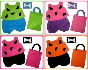 5/6 or 7/8 Flintstones Pebbles Halloween Costume Set Boutique PAGEANT