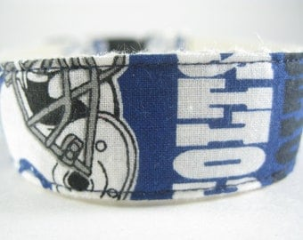 Indianapolis Colts hemp dog collar or leash