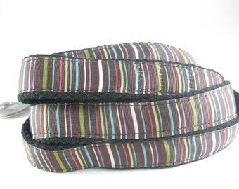 Chocolate Stripe hemp dog leash