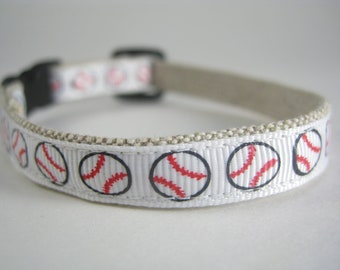 "Baseball organic cotton 1/2"" collar"