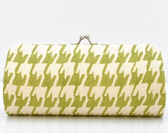 Porcelain Tile in Olive..Small Clutch Purse