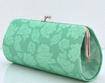 Rosettes in Tears..Small Clutch Purse
