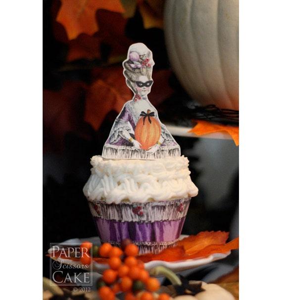 Ladies Autumn Masquerade Ball Printable Topper And Wrapper Set - Simply Print, Cut, Assemble, Enjoy