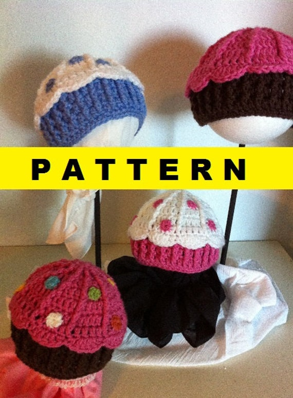 Crochet Pattern Cupcake Baby Hat By Crochetbymelissa On Etsy