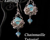 Chainmaille Tutorial for Helm Basket Earrings PDF Instructions Only
