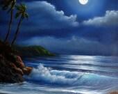 Half Off Sale - Original Oil Painting Tropical Midnight by artist Kathy McCartney