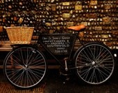 Bike Photograph - Southwold England Photography - 10x8 Grocery bicycle Photo bike basket,  Jogger Picture - Soft colors Team GB Wall Art