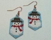 Snowmen Beaded Earrings