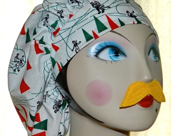 You've Been Jingled Banded Bouffant Surgical Cap with Toggle