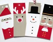 Printable Holiday Gift Tags // Christmas Printable Tags // Reindeer // Snowman // Nutcracker // Santa