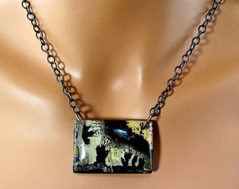 LP 342  Chinese Painting Jasper One Of A Kind Necklace