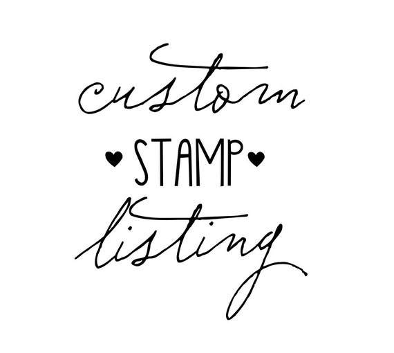 Custom Listing for Nicole- 12 tiny heart stamps