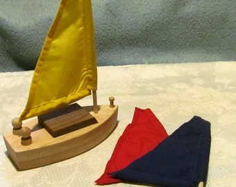 Sailboat wood toy