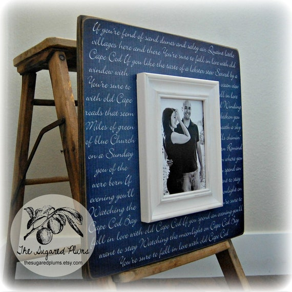 Wedding Gifts Picture Frames : Wedding Gift Personalized Picture Frame 16x16 OLD CAPE COD Wedding ...