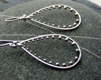 Sterling Silver Teardrop Earrings,  Silver Earrings, Drop Earrings, Everyday Jewelry, Simple Earrings