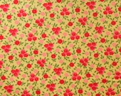 Fabric Annie's Posie Patch Yellow  Holly Holerman Design Lake House Dry Goods