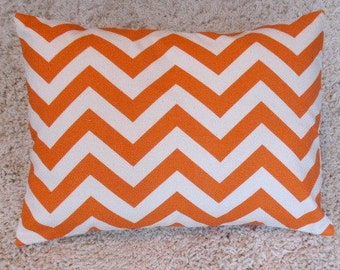 SALESALE Lumbar Covers 12 x 16  Orange Zigzag