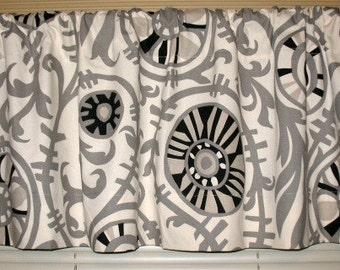 SALE Onyx Naturals Suzani Valance Curtain 50 x 16