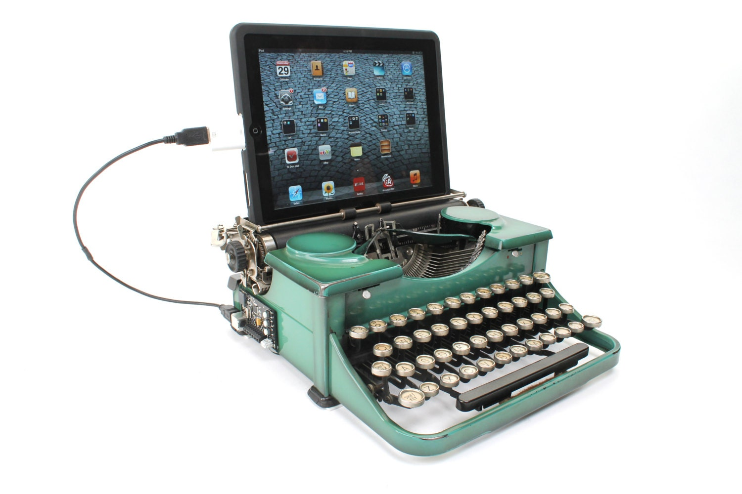 USB Typewriter Computer Keyboard and iPad Dock by ... | 1500 x 1000 jpeg 186kB