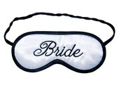 Bride Sleep Mask -  Wedding Night eye mask - Black And White - PomponDesigns