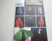 Pattern Costumes Boys Girls Capes Robes Headpieces   Sz S-M-L Simplicity 5927