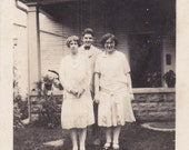 Two Gals and a Guy - Vintage Photograph, Vernacular, Found Photo, Ephemera (V)