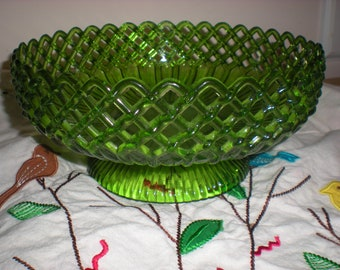 Vintage Green Regaline Bowl Vintage Plastic