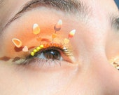 Candy Corn Eyelash Jewelry - Halloween false eyelashes